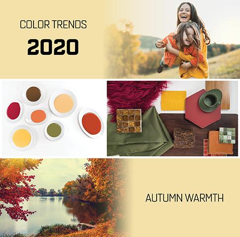 Barvni trendi 2020 - JESEN